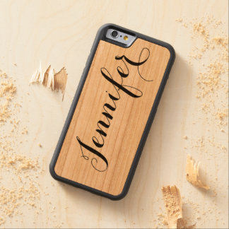 Custom Name Wood Carved Cherry iPhone 6 Bumper Case
