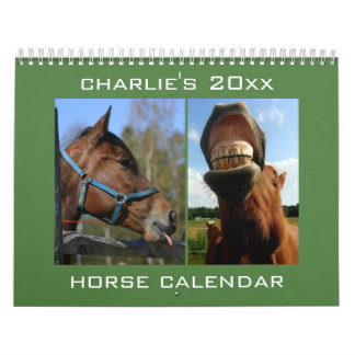 Custom Name & Year Horse Calendar