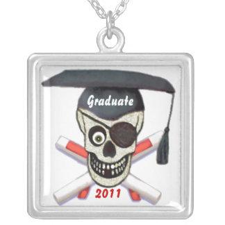 Custom Name Year Pirate Graduate Necklace
