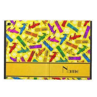 Custom name yellow rainbow bobsleigh snowflakes powis iPad air 2 case