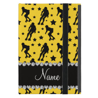 Custom name yellow roller derby stars iPad mini cases