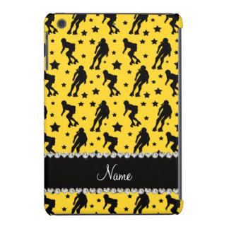 Custom name yellow roller derby stars iPad mini cover