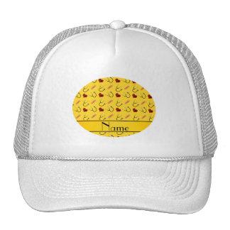 Custom name yellow stethoscope bandage heart trucker hat