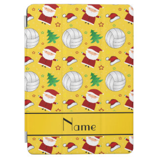 Custom name yellow volleyball christmas pattern iPad air cover