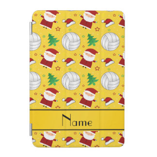 Custom name yellow volleyball christmas pattern iPad mini cover