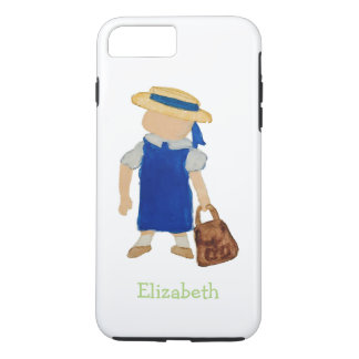 Custom Named School Girl Toddler Water Colored iPhone 7 Plus Case