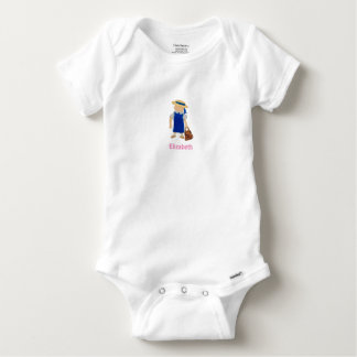Custom Named School Girl Toddler Water Colored T Shirts