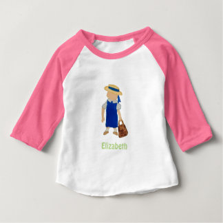 Custom Named School Girl Toddler Water Colored Tees