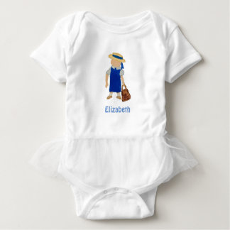 Custom Named School Girl Toddler Water Colored T-shirts