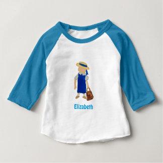 Custom Named School Girl Toddler Water Colored Tee Shirt
