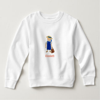 Custom Named School Girl Toddler Water Colored Tee Shirts