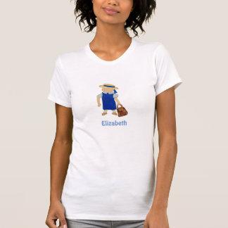 Custom Named School Girl Toddler Water Colored T Shirt