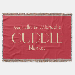 Custom names & color SNUGGLE throw blanket