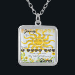 """Custom Names Sunshine Silver Plated Necklace<br><div class=""""desc"""">Customize this cute you are my sunshine gift for someone special.</div>"""