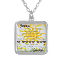 Custom Names Sunshine Silver Plated Necklace