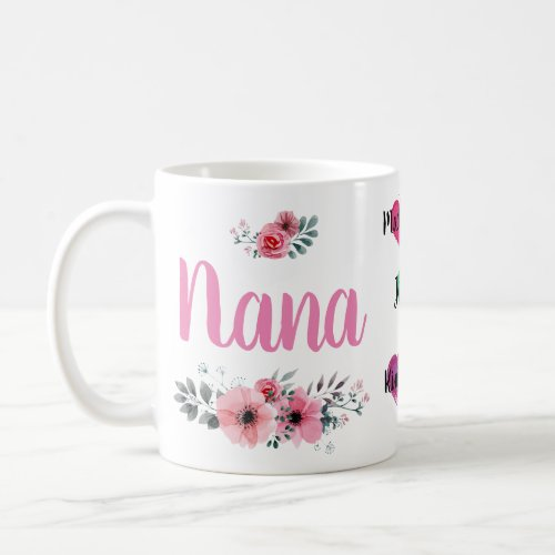 Custom Nana Mug with Grandchildrens Names
