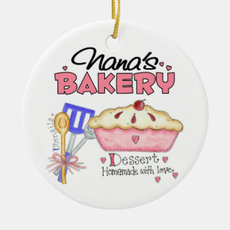 Custom Nanas Bakery Gift Ceramic Ornament