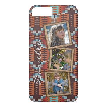 Aztec Themed Custom Native American Indian Tribal Pattern iPhone 8 Plus/7 Plus Case