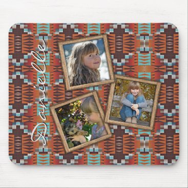 Aztec Themed Custom Native American Indian Tribal Pattern Mouse Pad