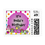 Custom Nature Owl Birthday Postage Stamps