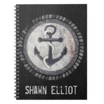 Custom Nautical Anchor Chalkboard Photo Notebook