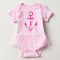Custom Nautical Anchor Girl Baby Tutu Bodysuit