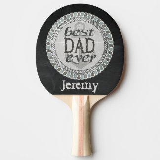 Custom Nautical Best Dad Ever Ping Pong Paddle