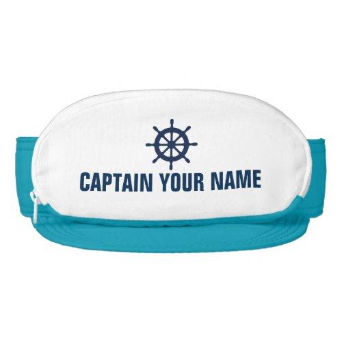 Custom nautical boat captain cap sac sun visor hat
