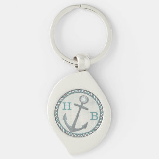 Custom Nautical Captain Dad Father's Day Keychain