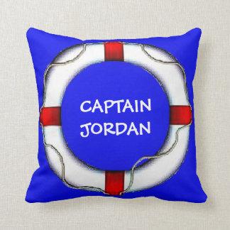 Custom Nautical Captain Lifesaver Pillow