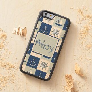 Custom Nautical Carved Maple iPhone 6 Bumper Case