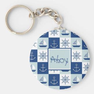 Custom Nautical Basic Round Button Keychain