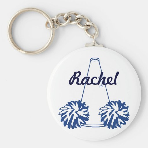 Custom Navy Blue Cheerleading Key Chain