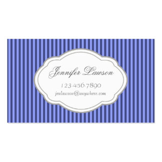 Custom Navy Blue Stripe Business Card Template