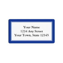 Custom Navy Blue & White Envelope Address Labels