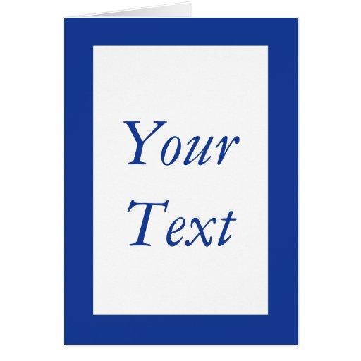 Custom Navy Blue & White Thank You Card Stationery