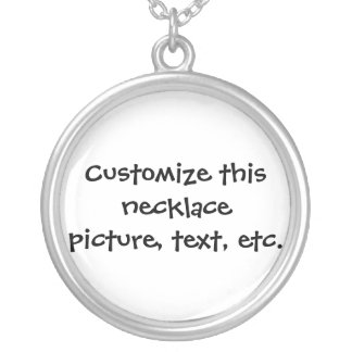 Custom necklace - round or square