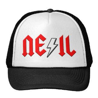 custom NEIL rock and roll shirt Hats
