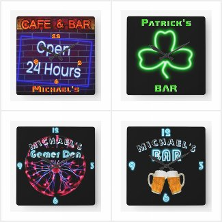 Custom NEON Look Clocks - Girls, Boys and Adults