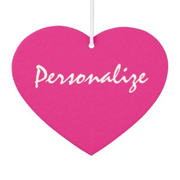 Valentines Themed Custom neon pink heart shape car air freshener