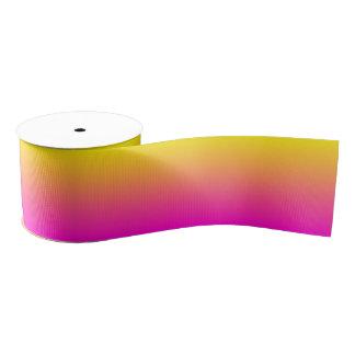 Custom Neon Pink Ombre Grosgrain Ribbon