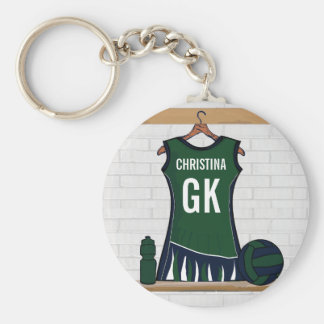 Custom Netball Uniform Keychain