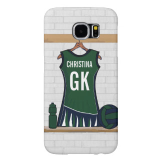 Custom Netball Uniform Samsung Galaxy S6 Case