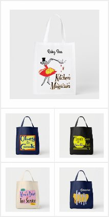 Custom New and Retro Design Tote Bags