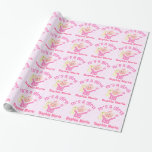 Custom New Baby Girl Glossy Wrapping Paper
