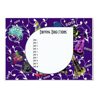 Custom New Year 2013 Driving Directions Cards