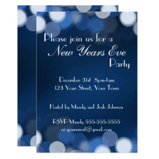 Custom New Years Party Card