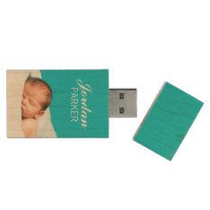 Custom Newborn Photo Monogram Usb Flash Drive at Zazzle