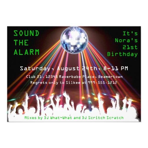 Custom Nightclub Birthday Party Invites
