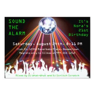 "Custom Nightclub Birthday Party Invites 5"" X 7"" Invitation Card"